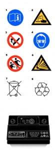 Значения символов на корпусе батареи