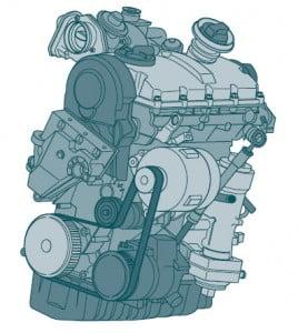 Дизельный двигатель TDI 1,9 л мощностью 74 кВт/100 л.с. с насос- форсунками