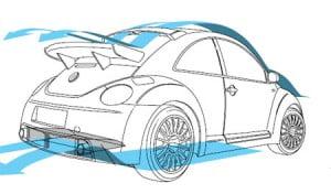 Аэродинамика автомобиля New Beetle RSi