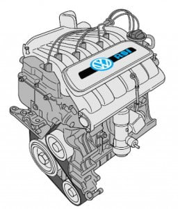Двигатель автомобиля New Beetle RSi