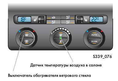Пульт управления системой Climatronic