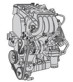 Бензиновый двигатель 1,6 л AEH