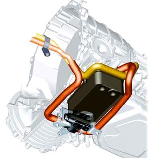 Место установки клапана на автомобиле с двигателем V8 TDI