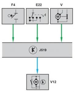 Система предварительного включения бензонасоса