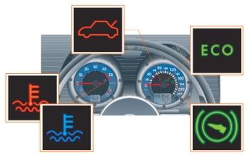 Контрольные лампы автомобиля